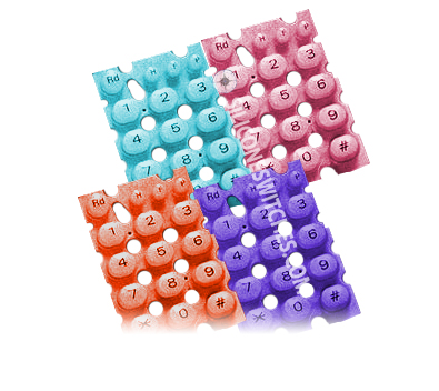 Custom Silicone Keypads with Very Bright Colors