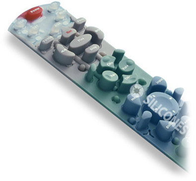 Custom rubber keypads with 3D and Contoured Keytops