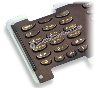 Custom Rubber Keypads with In-Mold Graphics