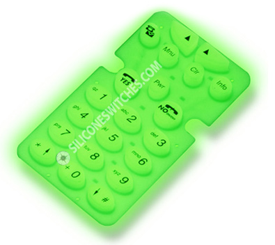 Custom Phosphorescent Rubber Keypads for Sale